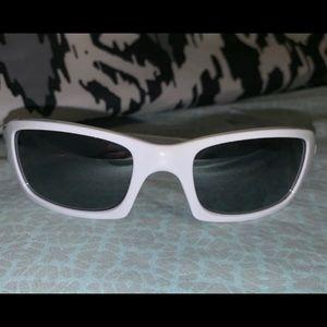 """Women's White Oakley """"Five Squared"""" Sunglasses"""